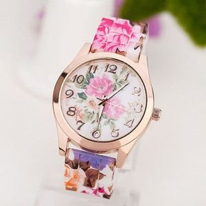 Accessories - Retro Floral Printed Silicone Watch